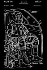 1962 - Mobile Space Suit - C. P. Lent - Patent Art Poster