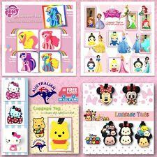 Luggage Baggage School Bag Travel Tag Label Pony Minnie Princess Tsum Tsum Gift