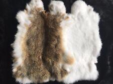 Real Rabbit Fur Blanket Rug Pelt Throw Fur Blanket Carpet Cosy Suitable 8-14''