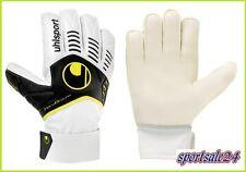 "Uhlsport Torwart-Handschuhe "" Ergonomic HG SL "" weiss/schwarz/fluo-gelb NEU"