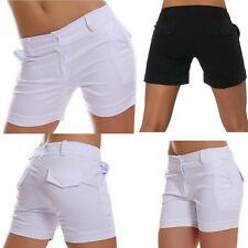 SeXy Miss Damen kurze Business Style Hose Stoff Shorty Shorts 34 36 38 40 42 NEU