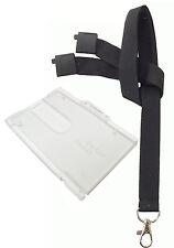 Neck Strap Lanyard Safety Breakaway 20mm Wide (Metal Clip) or Badge Holder lot