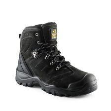 Buckler BSH0007BK Anti-Scuff Safety Work Boots Black (Sizes 6-13) Mens Steel Toe
