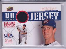 2009 Signature Stars USA RC Jersey Bryce Harper Washington Nationals