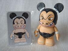 "Disney Vinylmation Urban 6 Wrestling SUMO WRESTLER Fighter 3"" Mickey Figure+Card"