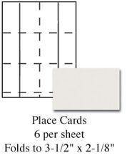 Plain Ivory Printable Wedding Place Cards 60/pk
