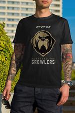 Newfoundland Growlers Ice Hockey 2018 Men Black Tshirt Size S-2Xl