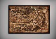 Dark Souls World Map Wall Art of Lordran   SIZES A4 to A0   E243