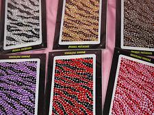 Zebra Stripes Self Adhesive Rhinestones Gemstones Scrapbook Laptop IPOD MP3 m206