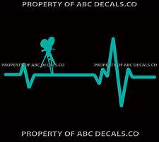 HEART BEAT LINE FILM CAMERA Vintage Hollywood Movie Golden Age CAR VINYL DECAL