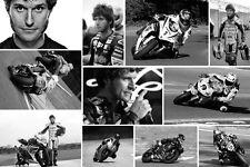 Excelente tipo Martin Moto cuadro lienzo Super Bike Collage De Lona Gratis P&P