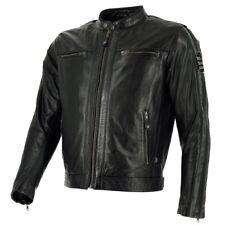 Richa Goodwood Classic Vintage Leather Motorcycle Jacket - Black