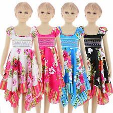KK604 Kinder Mädchen sommer kleid Kinder festlich Kleid