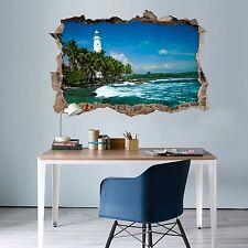 3D Faro Sul Mare 169 Parete Murales Adesivi Decal Sfondamento AJ WALLPAPER IT