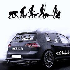 Autocollant pour voiture sticker film de Evolution chien rottweiler sédentaire