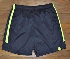 Tek Gear Performance Shorts Men's Training Short DryTek Wicking Black w/  Yellow