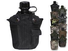 MFH leggeri campo flacone in plastica 1l escursionismo Borraccia Bottiglia D'acqua Nuovo