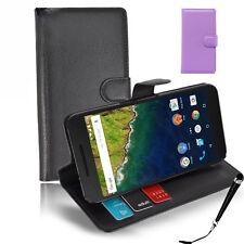 HQ Wallet Money Card Leather Case Cover Nexus LG 5X / Huawei 6P + SP & Stylus