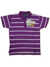 Polo uomo RICHBEAR Tg M L Cotone Viola Riga Bianca T-shirt 31210 Original