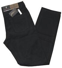 Pantalone uomo cotone caldo modello jeans tela strech taglia da 46 a 62 nero