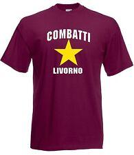 T-shirt Maglietta J1780 Combatti Livorno Ultras Support Local Team