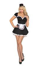 3 Pc Costume! Maid - Plus & Regular Sizes! Adult Woman Halloween