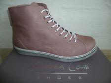 Andrea Conti Damen Stiefel Stiefelette Stiefeletten Boots Sneaker altrose Leder