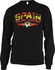 Spain Soccer 2014 Spanish Español Play Hard Olympics Long Sleeve Thermal
