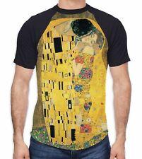 Gustav Klimt The Kiss Men's All Over Baseball T Shirt - Nature Artwork Colourful