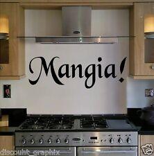 MANGIA EAT ITALIAN WALL ART QUOTE DECAL STICKER FAMILIA AMORE ITALIANO KITCHEN