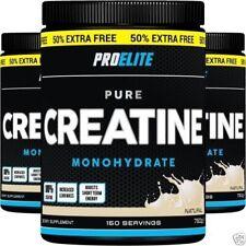 500G + 250G = 750G / 150 SERVINGS PRO ELITE CREATINE Monohydrate Energy & Growth