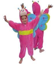 ★ Pink-Rosa Schmetterling Warm Plüsch Kostüm 98,104,110,122,128,134 Tierenkostüm