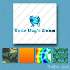 Custom American Eskimo Dog Name Decal Sticker - 25 Printed Fills - 6 Fonts