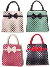 Banned Carla Retro Bag 50s Rockabilly Polka Faux Leather Top Handle Handbag