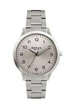 Reflex Gents Analogue Black Dial & Silvertone Bracelet Strap Dress Watch