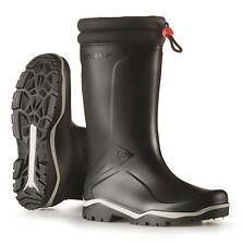 Dunlop Blizzard cálido Black Fleece linned el collar rellenado Wellington Botas