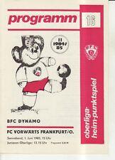 OL 84/85 BFC Dynamo Berlin - FC Vorwärts Frankfurt/O.