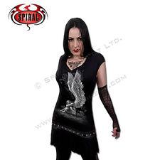 SPIRAL DIRECT ENSLAVED ANGEL Studs Waist Dress/Top/Ladies/Girls/Angel/Goth/Biker