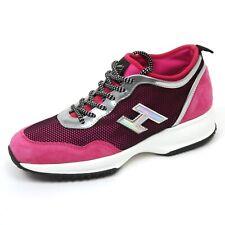 C8420 sneaker donna HOGAN INTERACTIVE LYCRA H flock fucsia/nero shoe woman