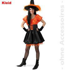 Hexe Rhonda Kostüm 36-42 Hexenkleid orange Karneval Halloween Kleid 1210706G13