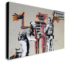 BANKSY - Basquiat Graffiti  - CANVAS WALL ART Framed Print - Various Sizes