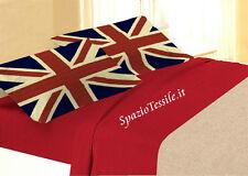 Completo Lenzuola Bandiera Inghilterra -  Stampa Digitale 100 % cot.