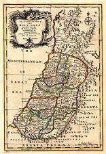 Mp55 vintage 1767 carte antique historique de la Terre Sainte Israël Poster A1 / A2 / A3