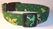 Wet Nose Designs Lucky Leprechauns Dog Collar St Patricks Day Shamrocks