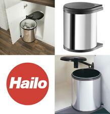 Hailo Under Sink Kitchen Waste Bin 12L/15L/20L SS Black Cabinet Width 400mm