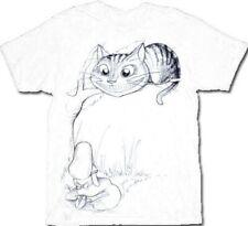 Alice In Wonderland Cheshire Cat Tree Mens White T-shirt