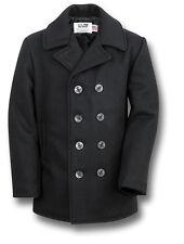 Nouveau Schott 740N PEA Manteau de laine NYC Bleu Marine États-Unis fait [ 70304 ]