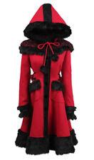 Manteau rouge et noire chaperon rouge avec fausse fourrure pyon pyo Pyon Pyon