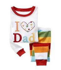 Girls Kids I LOVE DAD Pyjama Sleepwear Nightwear Long Sleeve 1 2 3 4 5 6 7 yrs