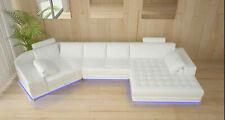 U Form Sofa Couch Polster Garnitur Wohnlandschaft Design Ecksofa Leder Neu A1116